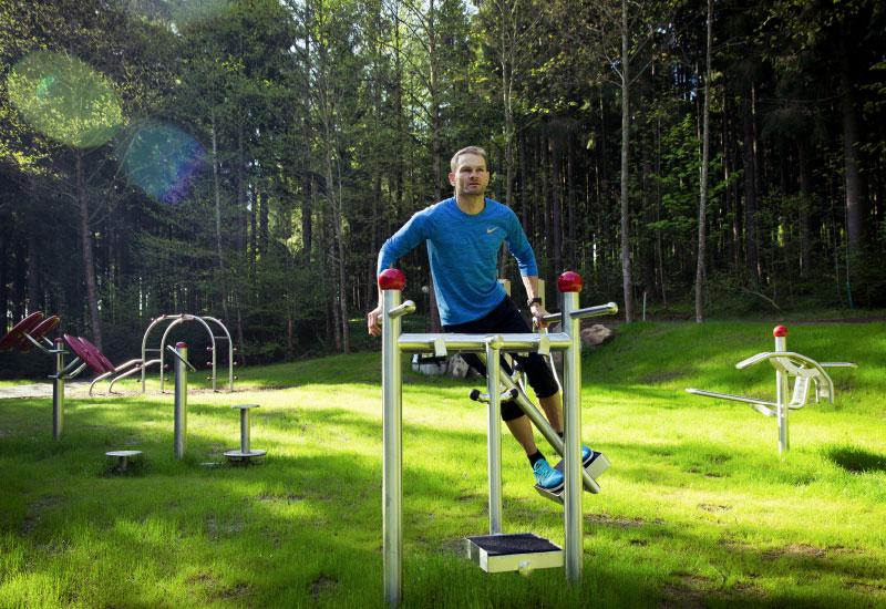Bewegungspark mit Fitnessparcours - Vortuna Gesundheitsresort Bad Leonfelden