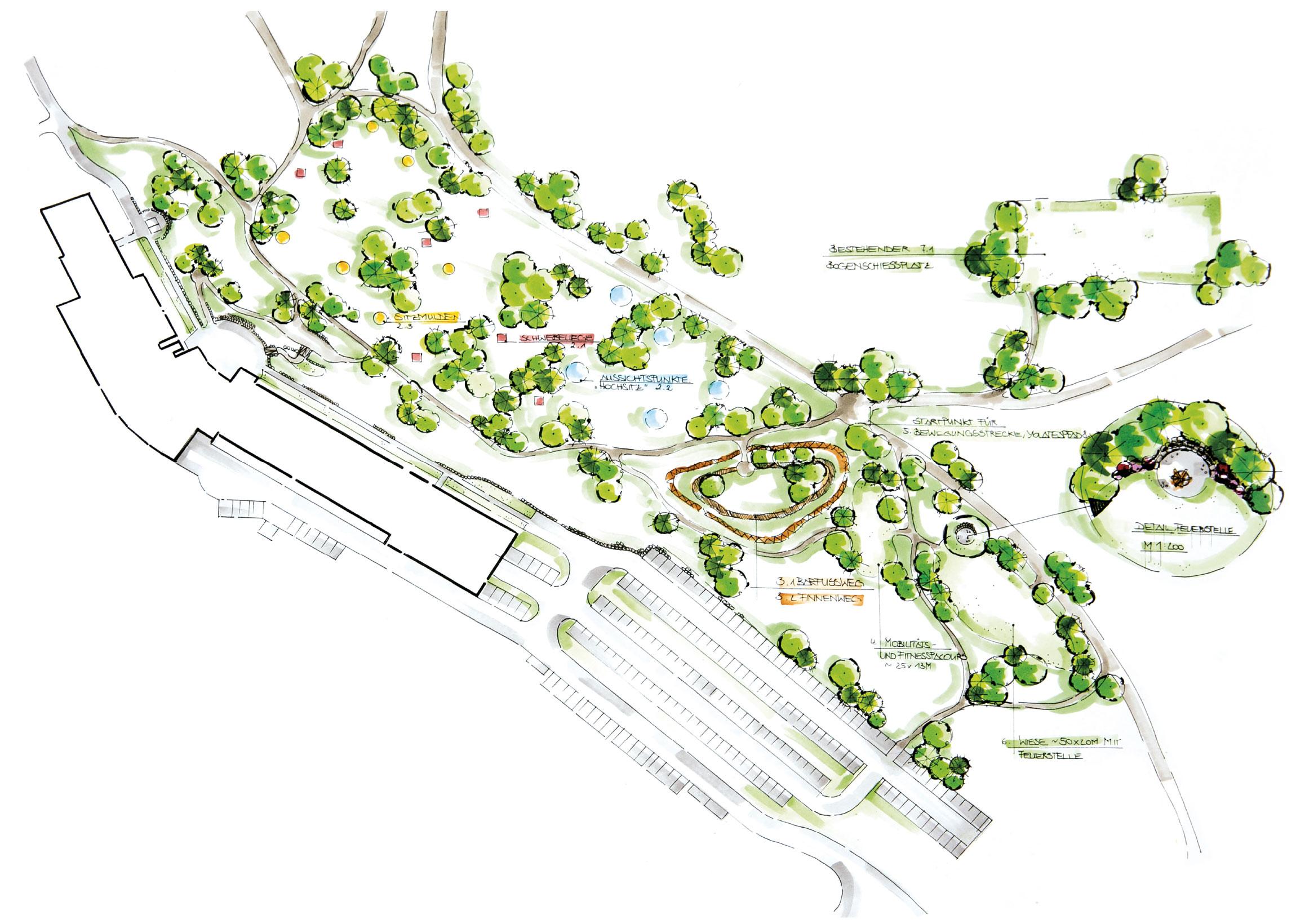 Natur und Bewegungspark im Moor vom Vortuna Gesundheitsresort Bad Leonfelden