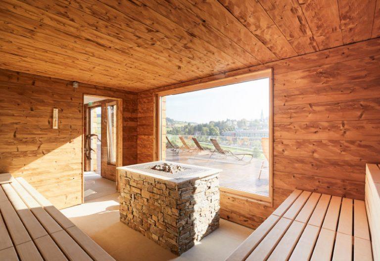 Wellness und Aktivbesreich - Panorama Sauna - Vortuna Gesundheitsresort Bad Leonfelden
